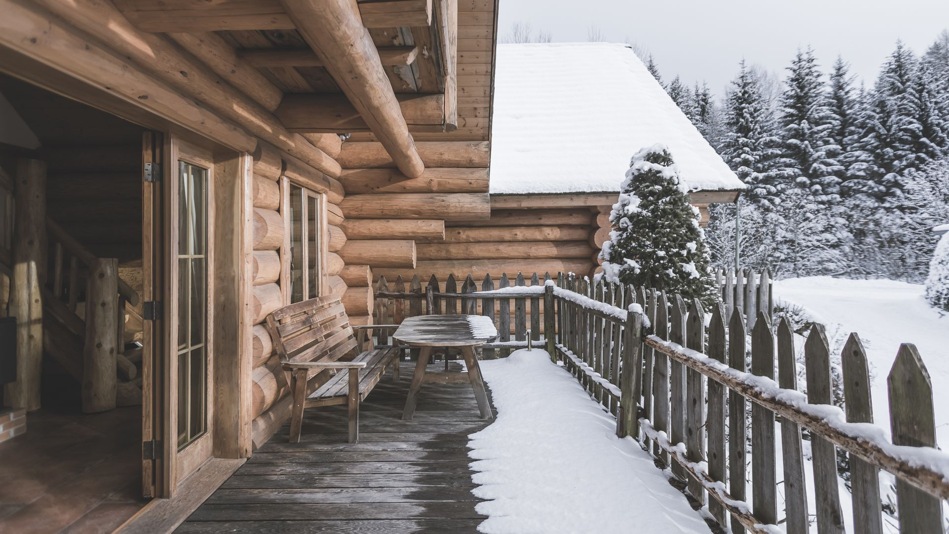 Camping Chalet Dolomiten Winter